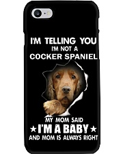 I'm telling you i'm not a cocker spaniel Phone Case thumbnail