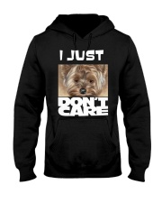 I Just Don'T Care Yorkshire Terrier 2 Hooded Sweatshirt thumbnail