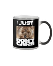 I Just Don'T Care Yorkshire Terrier 2 Color Changing Mug thumbnail