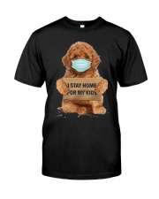 I Stay Home For My Kids Poodle Classic T-Shirt front