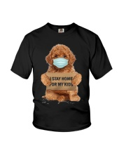 I Stay Home For My Kids Poodle Youth T-Shirt thumbnail