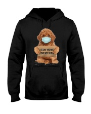I Stay Home For My Kids Poodle Hooded Sweatshirt thumbnail