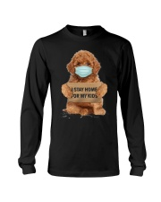 I Stay Home For My Kids Poodle Long Sleeve Tee thumbnail