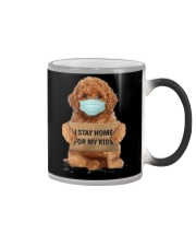 I Stay Home For My Kids Poodle Color Changing Mug thumbnail