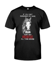 If You Can'T Remember My Name Just Say Horse Classic T-Shirt front
