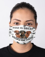 God Is Great Dachshunds Are Good People Are Crazy Face Mask Gifts For Dachshund Lovers  Cloth face mask aos-face-mask-lifestyle-01