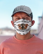 God Is Great Dachshunds Are Good People Are Crazy Face Mask Gifts For Dachshund Lovers  Cloth face mask aos-face-mask-lifestyle-06