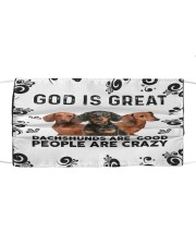 God Is Great Dachshunds Are Good People Are Crazy Face Mask Gifts For Dachshund Lovers  Cloth face mask front