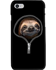 sloth zipper shirt Phone Case thumbnail