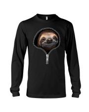 sloth zipper shirt Long Sleeve Tee thumbnail