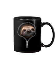 sloth zipper shirt Mug thumbnail