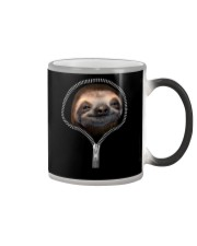 sloth zipper shirt Color Changing Mug thumbnail