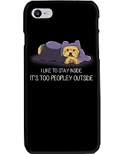 I Like To Stay Inside IT'S Too Peopley yorkie 1 Phone Case thumbnail