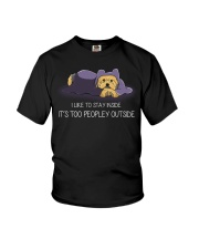I Like To Stay Inside IT'S Too Peopley yorkie 1 Youth T-Shirt thumbnail