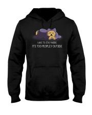 I Like To Stay Inside IT'S Too Peopley yorkie 1 Hooded Sweatshirt thumbnail