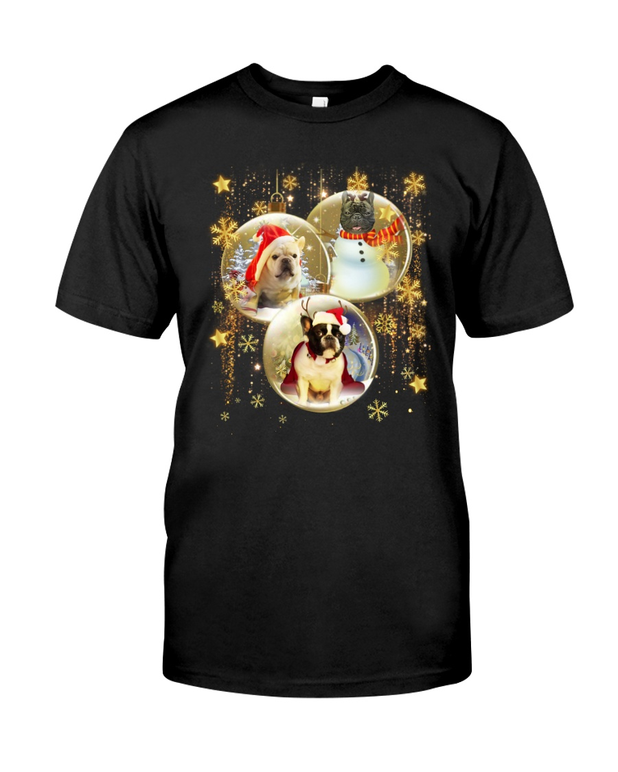 Frenchie T-shirt Christmas gift for friend Classic T-Shirt