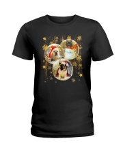 Frenchie T-shirt Christmas gift for friend Ladies T-Shirt thumbnail