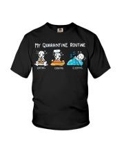 My Quarantine Routine Dalmatian3 Youth T-Shirt thumbnail