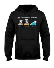 My Quarantine Routine Dalmatian3 Hooded Sweatshirt thumbnail