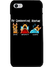 My Quarantine Routine German Shepherd4 Phone Case thumbnail