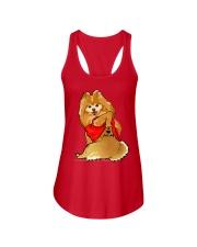 Pomeranian Ladies Flowy Tank thumbnail