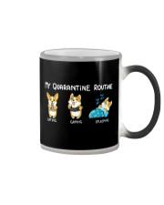 My Quarantine Routine corgi Color Changing Mug thumbnail