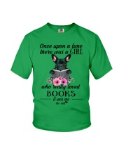 Once upon a time there was a girl frenchie Youth T-Shirt thumbnail