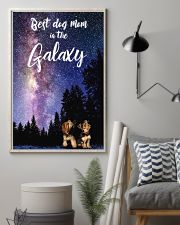 Best Dog Mom In The Galaxy yorkie mom 11x17 Poster lifestyle-poster-1
