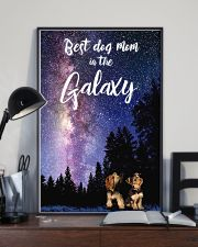 Best Dog Mom In The Galaxy yorkie mom 11x17 Poster lifestyle-poster-2