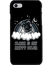 Black Is My Happy Color pug Phone Case thumbnail