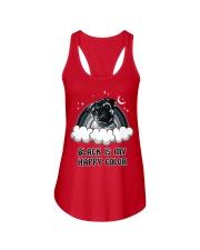 Black Is My Happy Color pug Ladies Flowy Tank thumbnail