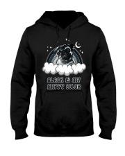 Black Is My Happy Color pug Hooded Sweatshirt thumbnail