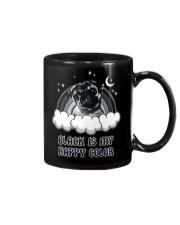 Black Is My Happy Color pug Mug thumbnail