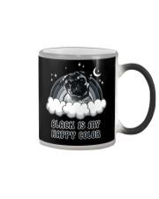 Black Is My Happy Color pug Color Changing Mug thumbnail