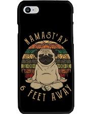 Namast'Ay 6 Feet Away pug Phone Case thumbnail