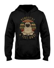 Namast'Ay 6 Feet Away pug Hooded Sweatshirt thumbnail