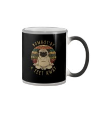 Namast'Ay 6 Feet Away pug Color Changing Mug thumbnail