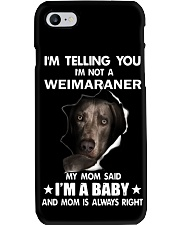 I'm telling you i'm not a weimaraner Phone Case thumbnail