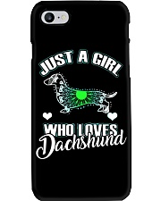 Just A Girl Who Loves Dachshund 3 Phone Case thumbnail