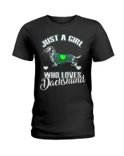 Just A Girl Who Loves Dachshund 3 Ladies T-Shirt thumbnail