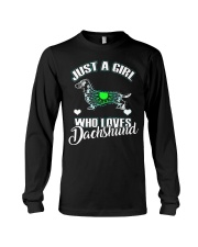Just A Girl Who Loves Dachshund 3 Long Sleeve Tee thumbnail