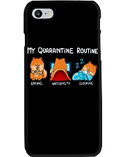My Quarantine Routine Pomeranian4 Phone Case thumbnail