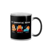 My Quarantine Routine Pomeranian4 Color Changing Mug thumbnail