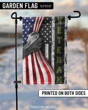"""Veteran Inside American Flag Thin Green Line Flag Front Door Decor 11.5""""x17.5"""" Garden Flag aos-garden-flag-11-5-x-17-5-lifestyle-front-14"""