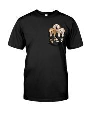 golden retriever T-shirt gift for friend Classic T-Shirt front