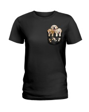 golden retriever T-shirt gift for friend Ladies T-Shirt thumbnail