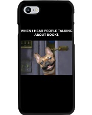 When I Hear People Talking About Frenchie Book Phone Case thumbnail