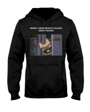 When I Hear People Talking About Frenchie Book Hooded Sweatshirt thumbnail