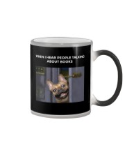 When I Hear People Talking About Frenchie Book Color Changing Mug thumbnail