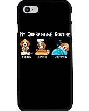 My Quarantine Routine beagle2 Phone Case tile